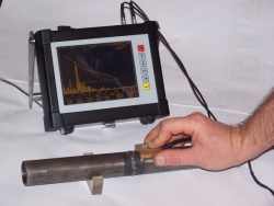 Thin welds testing with usage of CUD flaw detector